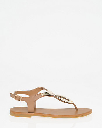 Metal Thong Sandal