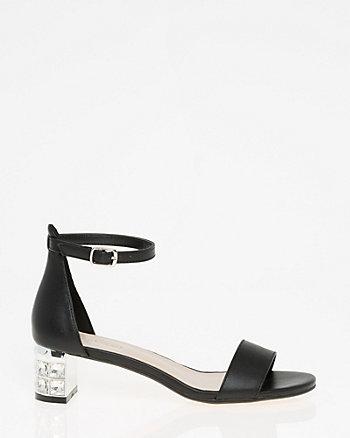 Jewel Embellished Ankle Strap Sandal