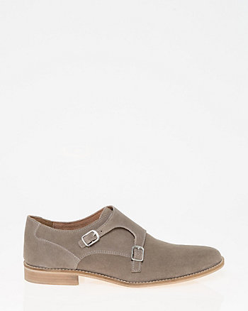 Suede Double Monk Shoe