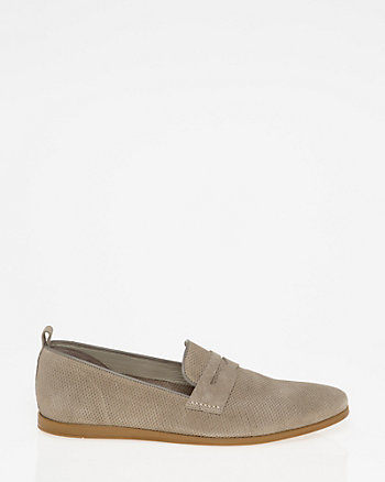 Italian-Made Perforated Suede Loafer