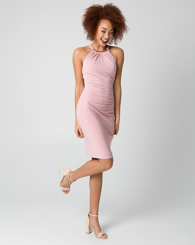 Knit Halter Cocktail Dress | LE CHÂTEAU