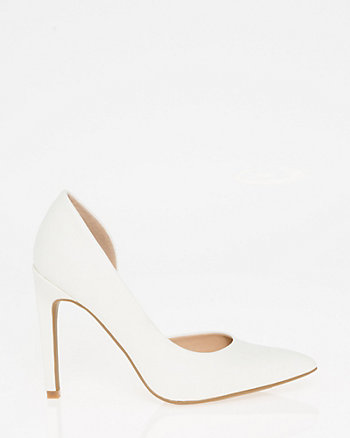 Half d'Orsay Pointy Toe Pump