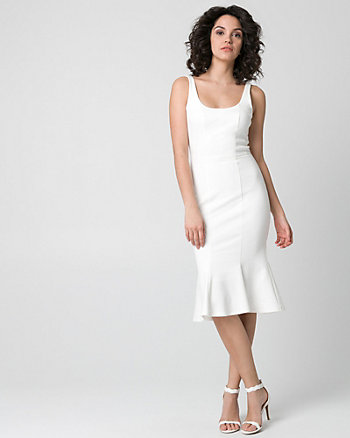 Ponte Scoop Neck Dress