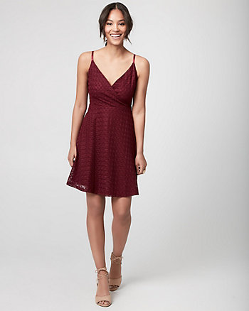 Lace Wrap-Like Dress