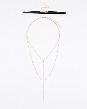 Choker & Chain Necklace