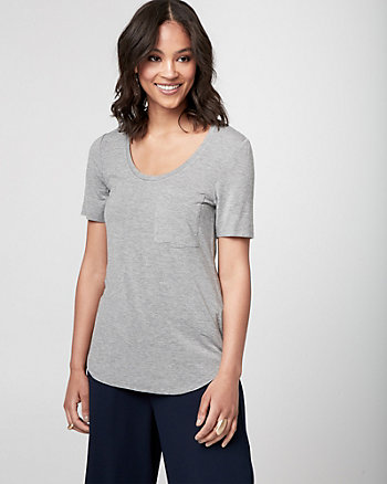 Jersey Scoop Neck T-Shirt