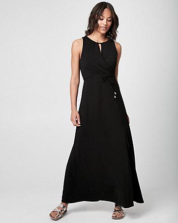 Jersey Halter Maxi Dress
