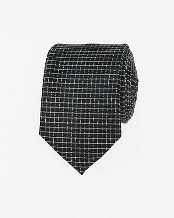 Check Print Woven Skinny Tie