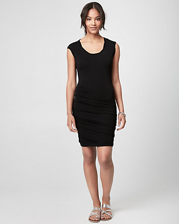 Jersey Scoop Neck Tunic Dress
