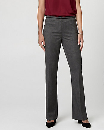 Tweed Viscose Blend Flare Leg Pant