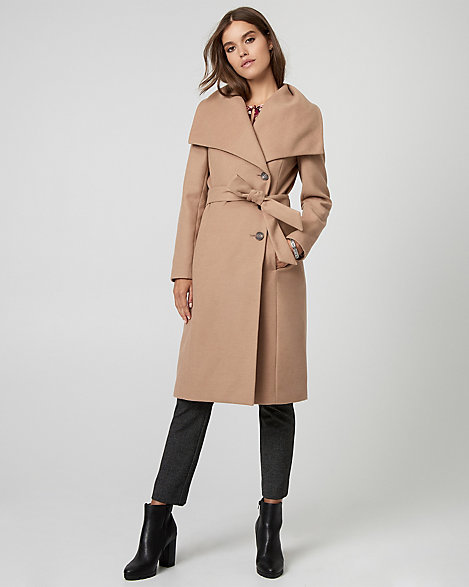 stable quality many fashionable performance sportswear LE CHÂTEAU: Cashmere-Like Belted Wrap Coat