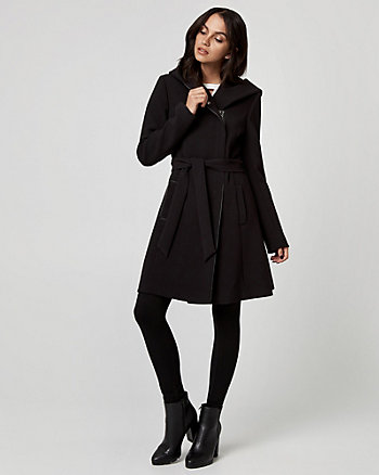 Double Weave Belted Coat