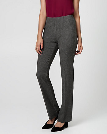 Tweed Slight Flare Leg Pant