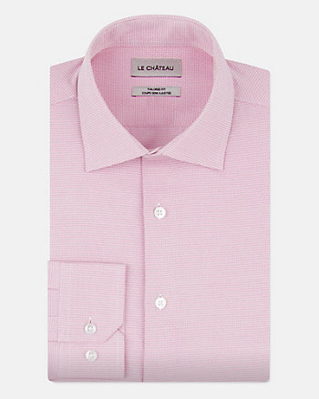 Cotton Blend Tailored Fit Shirt