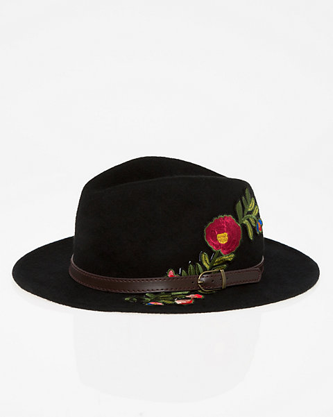 1bfa0e2fc LE CHÂTEAU: Embroidered Wool Fedora Hat