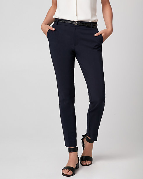 Cotton Blend Slim Leg Pant STYLE: 355729