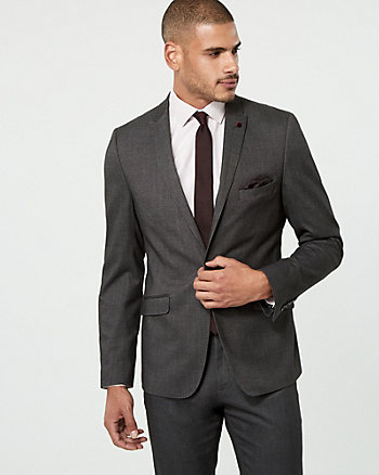 Brushed Tweed Contemporary Fit Blazer