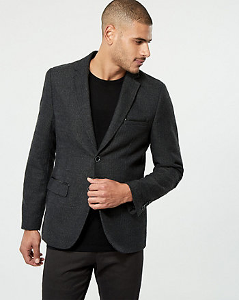 Herringbone Contemporary Fit Blazer