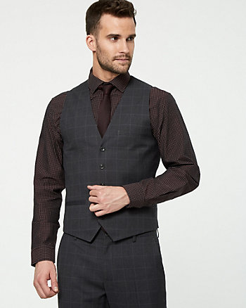 Windowpane City Fit Vest