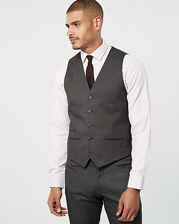 Brushed Tweed Contemporary Fit Vest