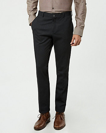 Knit Twill Slim Leg Pant