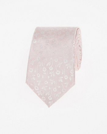 Tonal Floral Print Silk Tie