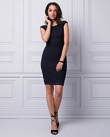 Lace Boat Neck Dress