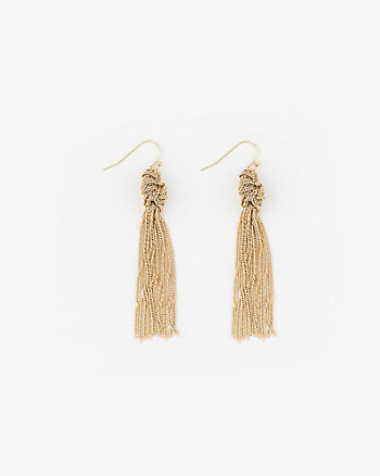 Knotted Tassel Fringe Earrings