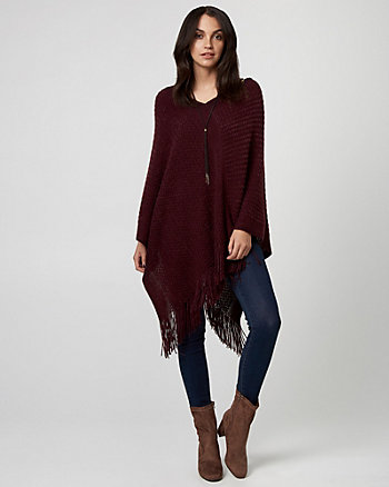 Textured Knit Poncho
