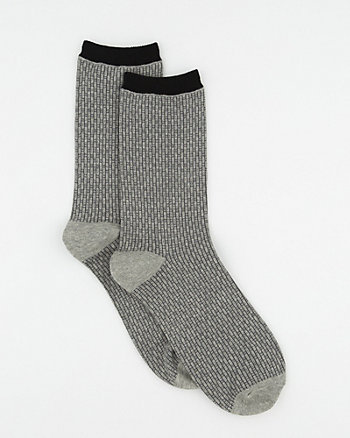 Check Cotton Blend Socks