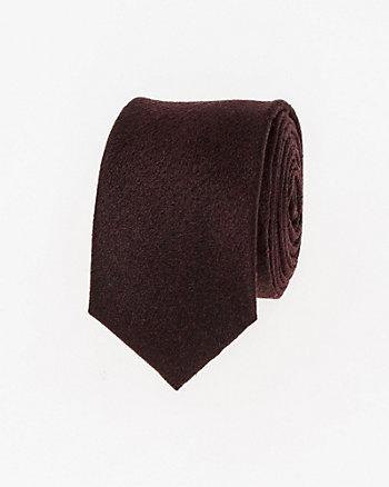 Textured Viscose Blend Skinny Tie