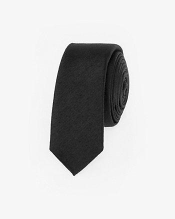 Viscose Blend Skinny Tie