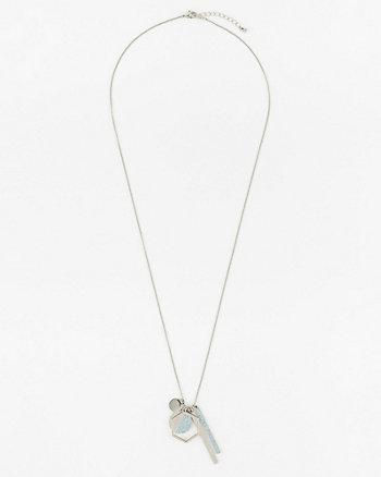 Metal Circle & Bar Pendant Necklace