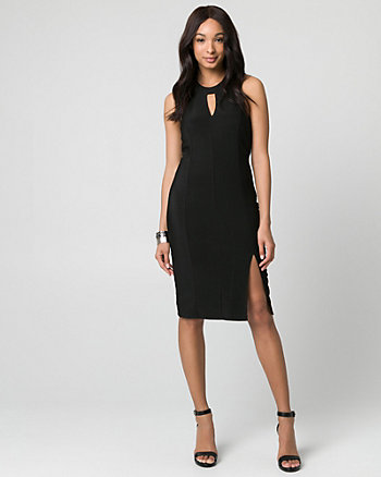 Ottoman Knit Halter Dress