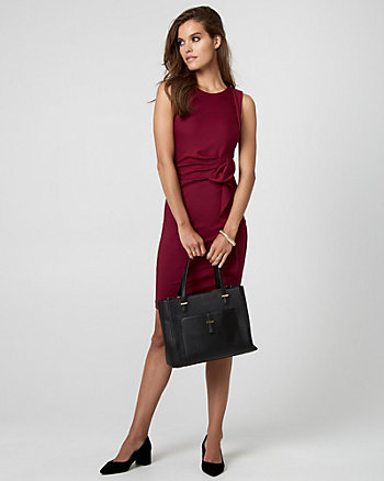 Ponte Boat Neck Dress