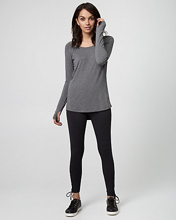 Jersey Scoop Neck Pullover