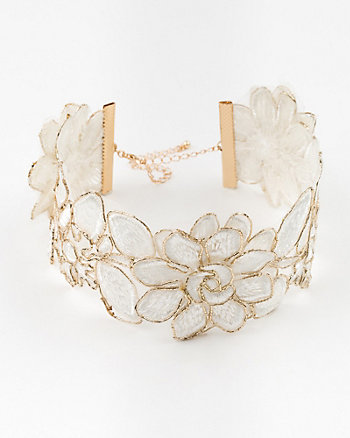 Embroidered Lace Choker Necklace