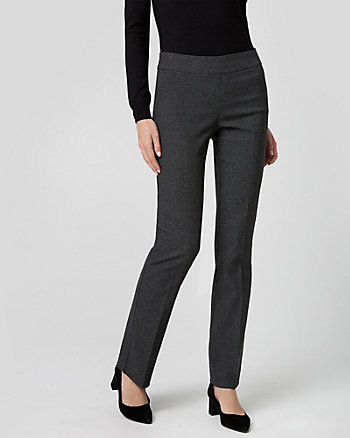 Houndstooth Tech Stretch Slight Flare Pant