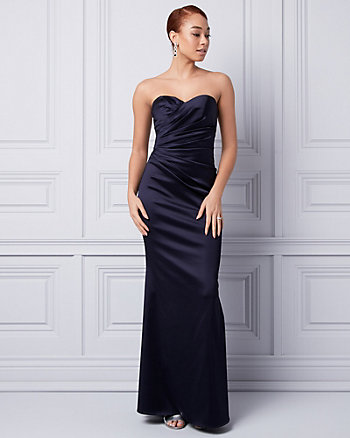 Satin Sweetheart Gown