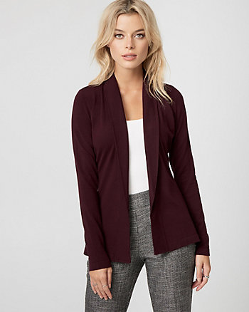 Viscose Blend Shawl Collar Cardigan