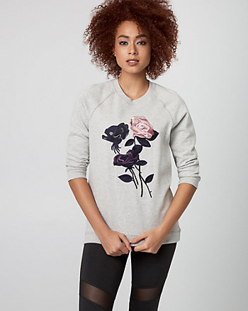 Embroidered French Terry Sweatshirt