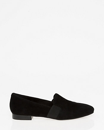 Suede Square Toe Loafer