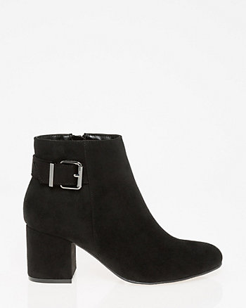Buckle Almond Toe Ankle Boot
