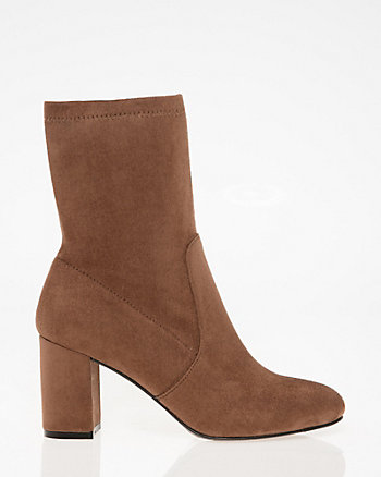 Stretch Almond Toe Sock Bootie