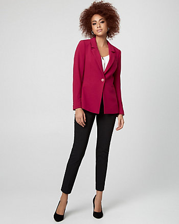 Crêpe Notch Collar Blazer
