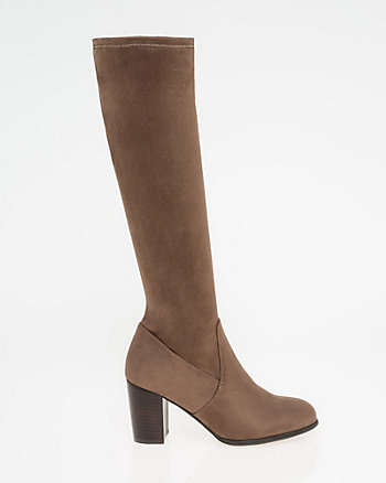 Stretch Suede-Like Knee-High Boot