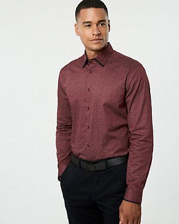 Chemise à motif fantaisie en coton