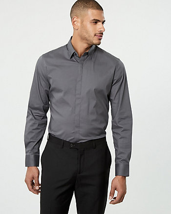 Stretch Poplin Athletic Fit Shirt