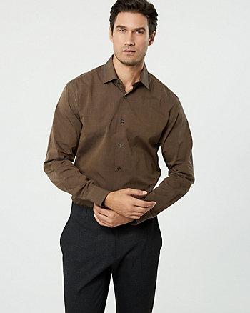 Chemise de coupe semi-ajustée en coton