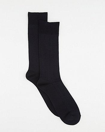 Herringbone Bamboo Blend Socks